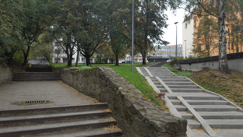 Bei einem Spaziergang in Stettin