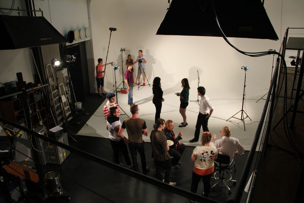 """Filming the opening of the arts performance scene in my film """"Timeless""""."""