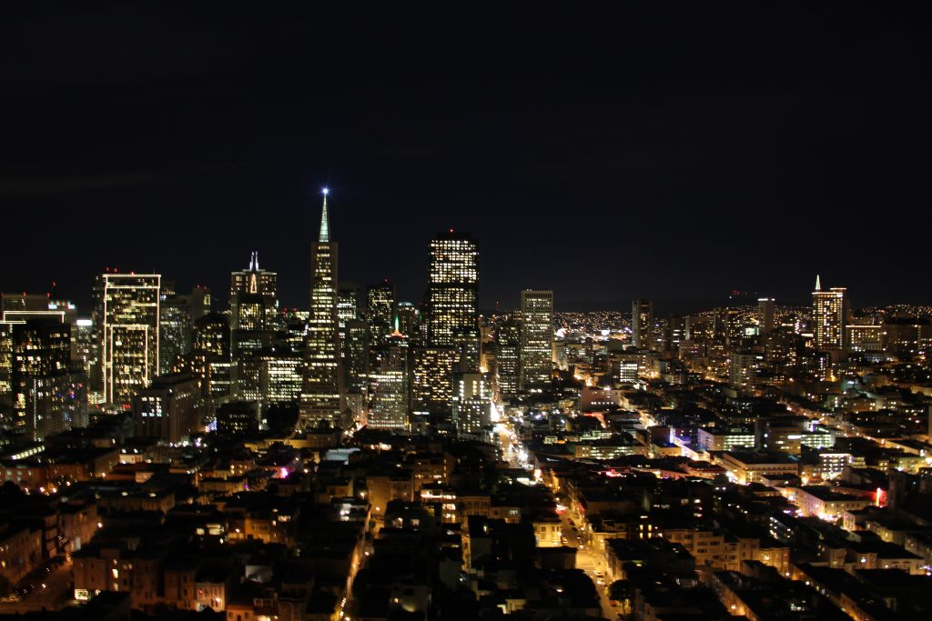 San Francisco Skyline, which I photographed on December 24, 2012.