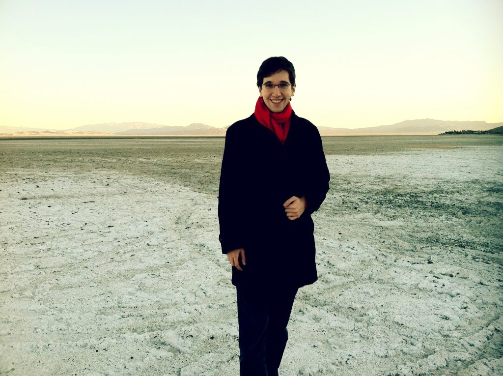 Standing next to a salt flat in Mojave Desert on December 4, 2011. Picture by Jarek Zabczynski