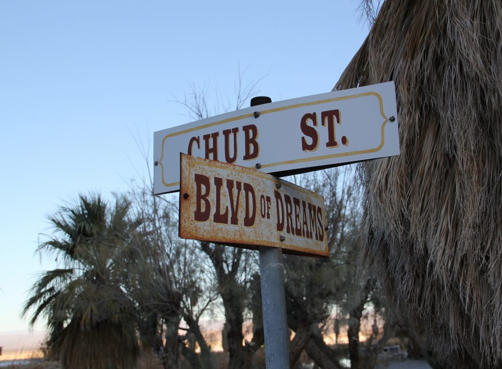 "The ""Blvd. of Dreams"" in Zzyzx, named by Curtis Howe Springer"